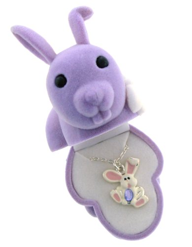 BUNNY RABBIT Crystal Pendant in Figural  - Dress The Easter Bunny Shopping Results
