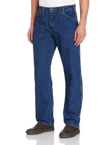 (Dickies Men's Relaxed Fit Carpenter Jeans, Stonewashed)