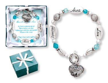 """BRACELET for a SPECIAL AUNT """"Expressively Yours""""Beautiful gift for your Lovely Aunt/Nice Charm Bracelet ~ Birthday FAVOR ~ Christmas Gift ~ Appreciation Thank you"""