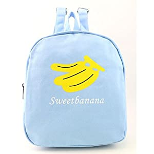 Paymenow Women Fashion Canvas Fruit Watermelon Hiking Daypack Travel Satchel School Bag Backpack Bag Gift Bag(Blue)