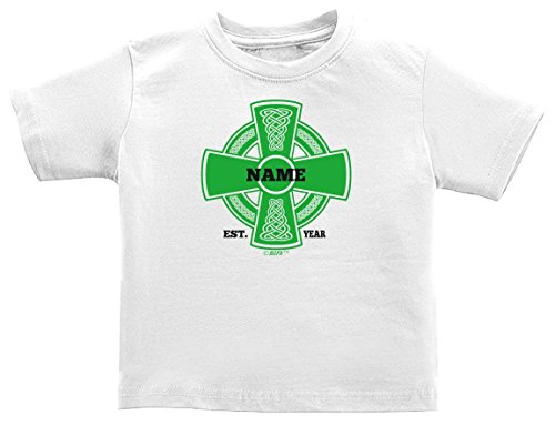 St Patricks Day Baby Clothes Personalized Celtic Add Name Year Custom Infant T-Shirt 6 Months ()