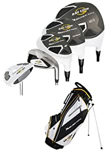 Ray Cook Golf Silver Ray Men's Golf Complete Set with Bag (+1-Inch), Right Hand, Steel, Regular