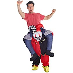 Morph Unisex Piggy Back Jester Piggyback Costume - With Stuff Your Own Legs