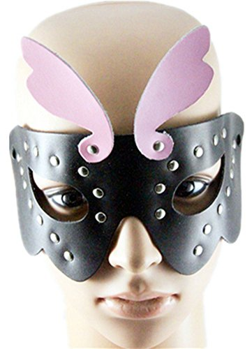 Qiu ping Men's & Women's New Punk Leather Performance Holiday Party Mask Jewelry by Qiu ping