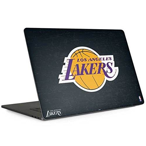 Skinit Los Angeles Lakers Black Primary Logo MacBook Pro 15-inch with Touch Bar (2016-18) Skin - Officially Licensed NBA Laptop Decal - Ultra Thin, Lightweight Vinyl Decal Protection