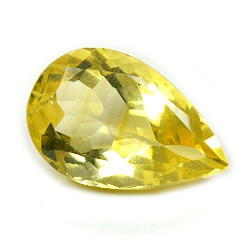Gemsonclick Natural Genunine Citrine Loose Gemstone 3.5 Carat Pear Shape November Birthstone (3.5 Ct Pear Stone)