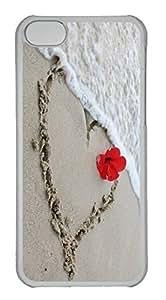 Customized iphone 5C PC Transparent Case - Beach Love Cover