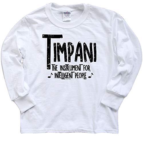 inktastic Intelligent Timpani Youth Long Sleeve T-Shirt Youth X-Large White