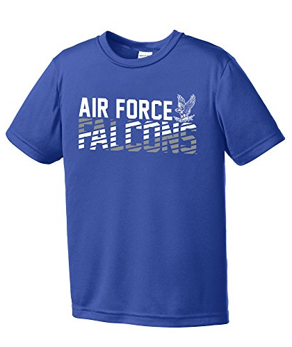 - NCAA Air Force Falcons Youth Boys Diagonal Short sleeve Polyester Competitor T-Shirt, Youth Medium,Royal