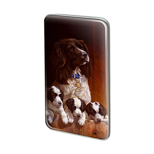 GRAPHICS & MORE English Springer Spaniel Mother Puppies in Barn Rectangle Lapel Pin Tie Tack