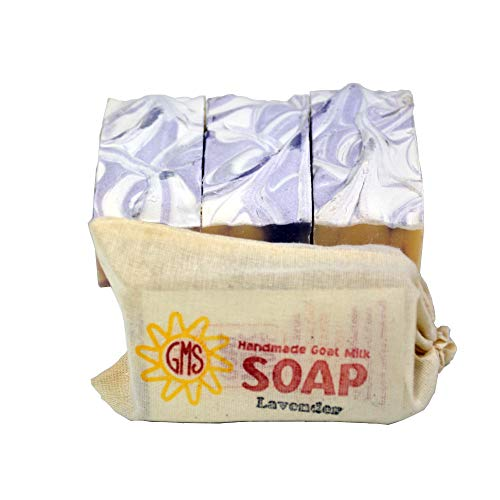 Goat Milk Soap – LAVENDER. All-Natural, Handmade by Goat Milk Stuff. Bars 5 oz. each, 4 Count
