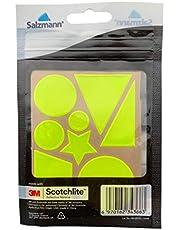 Salzmann 3M Reflectantes Etiquetas Adhesivas de Bici Llantas de Rueda y Cascos, Equipado con 3M Scotchlite