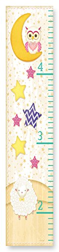 The Kids Room by Stupell Owl On The Moon Stars and Sheep (Play Canvas Growth Chart)