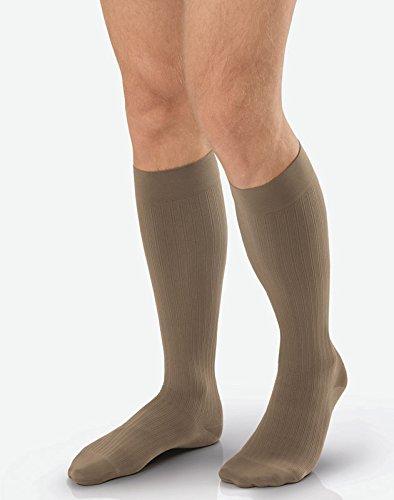 BSN Medical/Jobst 7765905 Men Ambition Sock, Knee High, 15-20 MMHG, Black, Regular, Size 6, Pair