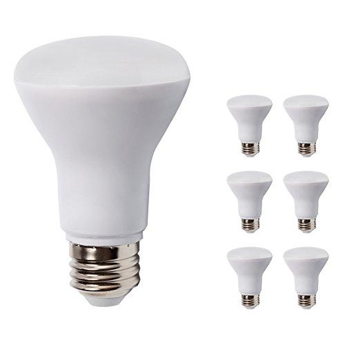 6 Pack - BR20 Dimmable LED Bulb, 7W (50W Equivalent), R20 Wide Flood Light Bulb, 3000K Warm White 550lm, 120° Beam Angle, E26 Medium Screw Base, UL Listed, - Wide Bulbs Led Angle Light