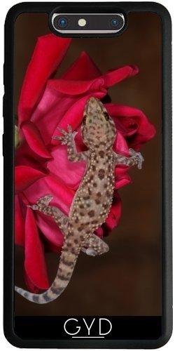 Funda Silicona para ZTE Blade V8 - Gecko En Una Rosa Roja. by loki1982