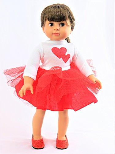 Valentines Tutu Dress | Fits 18