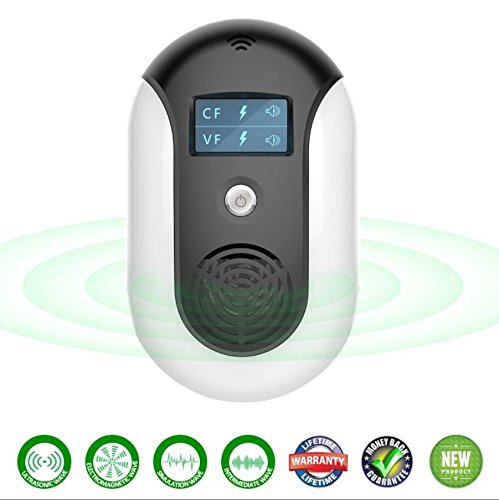 yuxcece Ultrasonic pest repeller-Intelligent electronic insect repellent, Portable For Insect Repellent-Repels,Indoors and outdoors,Repels Mosquitoes, Spiders, Bed bugs, Cockroaches, Mice,Flies,Fleas