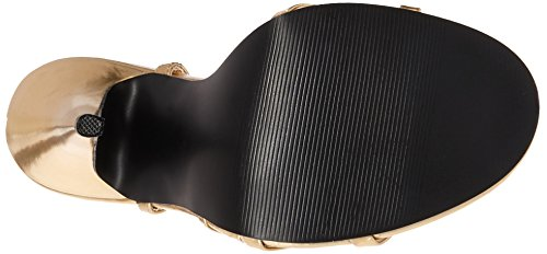 Dom108 Sandales b Metallic Gold Pu Femmes Pleaser 8aZxn1n