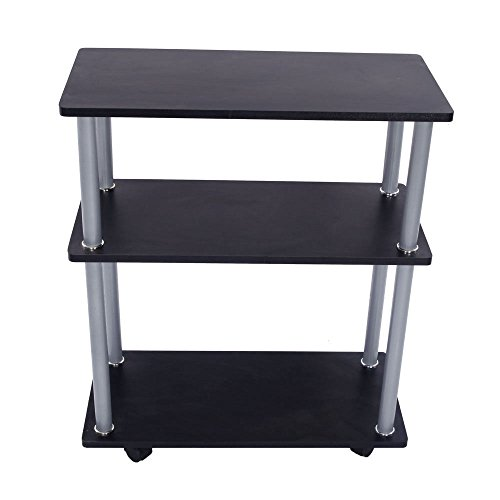 New Black 3 Tiers Laptop Fax Printer Cart Computer Stand ...