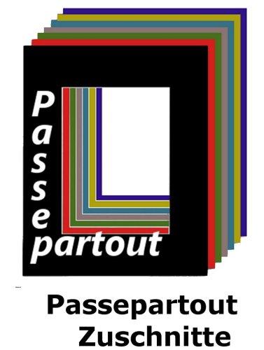 Passepartout 50 x 70 cm mit individuellem Zuschnitt - mit Schrägschnitt