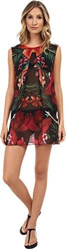 Ted Baker Women's Harryet Tropical Reverse Maxi Cover-Up Black Cover Up 2 (MD)