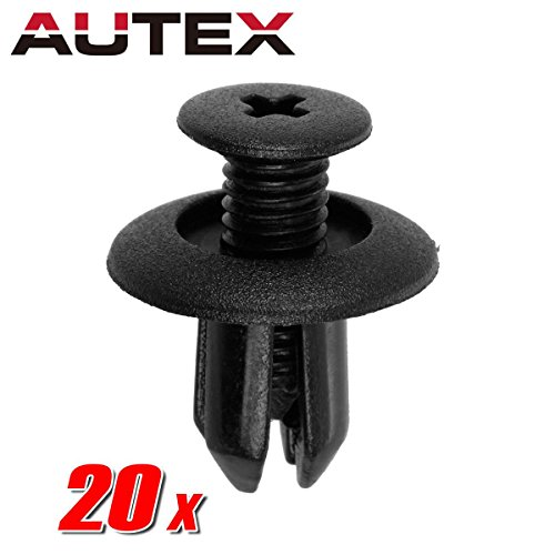 PartsSquare 20pcs Bumper Fender Liner Fastener Rivet Push Pin Fastener Retainer Clips Auto Body Car Clamps Replacement for Ford/Mazda/Hyundai