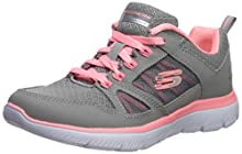 Skechers Women's Summits-New World Sneaker, Grey/Coral, 10 M US