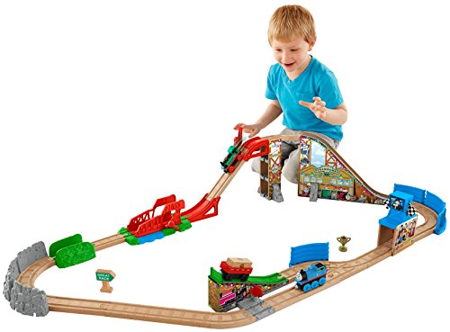 Fisher-Price Thomas & Friends Wooden Railway, Race Day Relay - Races Sign Wood