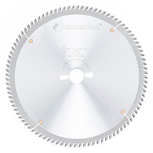 Amana Tool 612961-30 Carbide Tipped Fine Cut-Off and Crosscut 12 Inch D x 96T TCG, 10 Deg, 30MM Bore, Circular Saw (96t Cross)