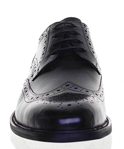 Justin Reece Derek, Zapatos Con Cordones Para Hombres, Negro (negro), 40