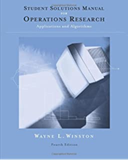 Amazon operations research applications and algorithms with student solutions manual for winstons operations research applications and algorithms fandeluxe Choice Image