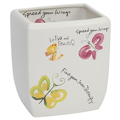 Kathy Davis Flutterby Wastebasket, Ceramic