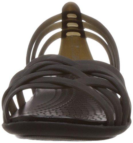 Sandales Femme Noir black Huarache Crocs black 46YwqnS5