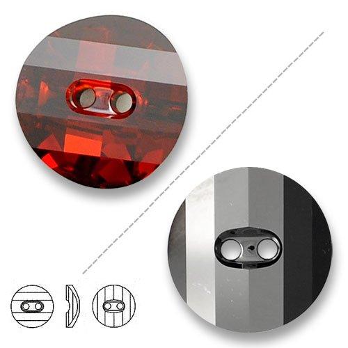 (Swarovski 3016 Crystal Red Magma Potato Chip Button, 14mm, 2-hole 2PCS )