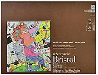 2-Ply Smooth 15 Sheets Strathmore 400 Series Bristol 11x14 Tape Bound
