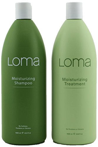 Loma Hair Care Moisturizing Shampoo Moisturizing Treatment Duo, 33 oz, Package may vary from Loma Hair Care