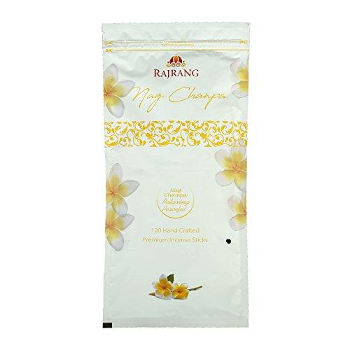 RAJRANG BRINGING RAJASTHAN TO YOU Verillas de Incienso Nag Champa Original - Prima Altamente Perfumado Fragancias Paquete de 120 Palos