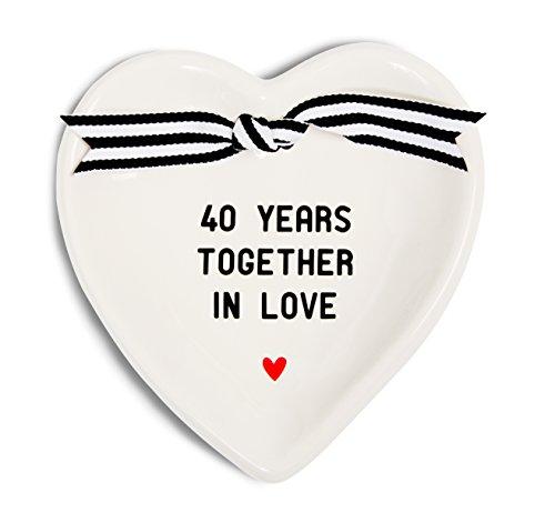 - Pavilion Gift Company 63053 40th Anniversary Ceramic Keepsake Dish, 4-1/2