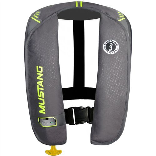 Mustang Survival Corp M.I.T. 100 Auto Activation PFD, Gray/Fluorescent Yellow Green ()