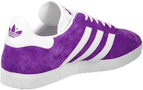 adidas Gazelle Unisex Trainers, Shock Purple/White/Gold Met, 12 M ...