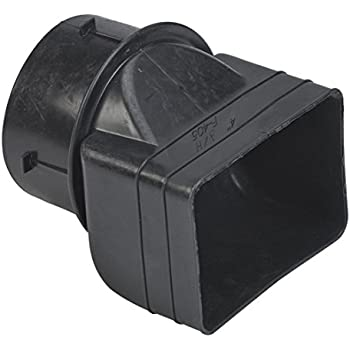 Universal Downspout To Drain Pipe Tile Adapter Black