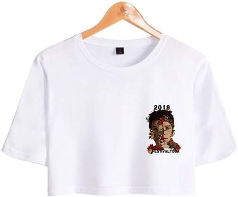 CWHao Camiseta Popular Europea Y Americana Camiseta Corta de Manga Corta Camiseta Moda Mujer, Blanco, XXL: Amazon.es: Deportes y aire libre