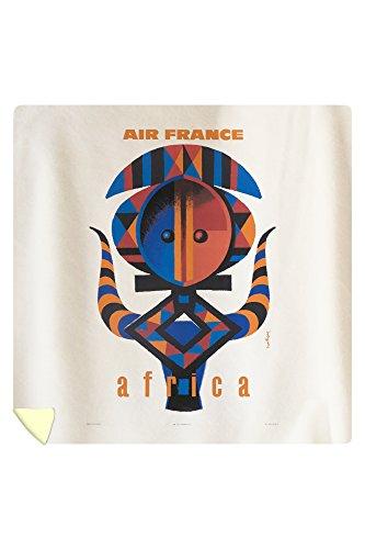 Air France - Africa Vintage Poster (artist: Nathan-Garamond) France c. 1963 (88x88 Queen Microfiber Duvet Cover) by Lantern Press