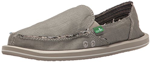 Sanuk Women's Donna Hemp Flat, Olive Grey, 8 M ()