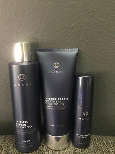 MONAT NEW!!!! ULTRA 3 PIECE/ INTENSE REPAIR TREATMENT SET! /SHAMPOO/CONDITIONER & SPRAY!