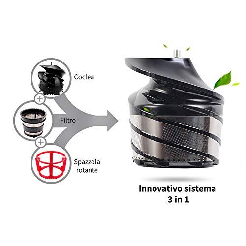 Silver Juicepresso Original-Extractor de zumo 40 revoluciones por minuto-IT: Amazon.es: Hogar