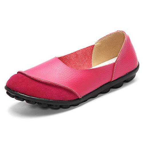 coloré EU ZHRUI 40 Rouge Taille Rose Jaune Chaussures On5Rfp