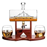 Whiskey Decanter Ship Set by The Wine Savant
