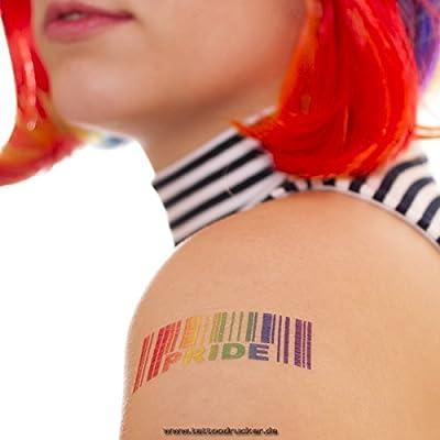 10x Código de barras PRIDE Tatuaje - arco iris una vez tatuaje ...